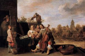 "David Teniers-""the painter and his family"""